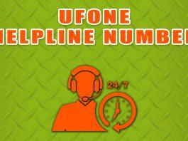 Ufone helpline number