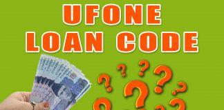 Ufone loan code